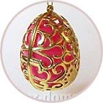 Яйцо-футляр золотое ажурное, подвеска
