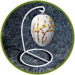 Подставка-подвес для шаров, яиц и клеток, белая, 13 см