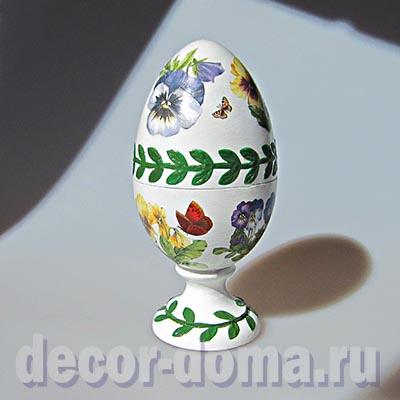 Пасхальное яйцо, декор в стиле английского фарфора, мастер-класс