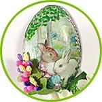 Пасхальное яйцо - магнит на холодильник