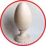 Яйцо деревянное разъемное, на подставке, 20 см