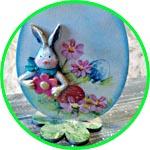 Пасхальное яйцо с кроликом, мастер-класс по декору