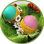 "Пасхальные яйца ""Цветущая весна"", мастер-класс"