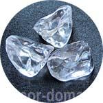 Лёд искусственный, кристаллы бесцветные большие, 250 г, плавные очертания