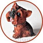 Собака, фигурка 5 см, йоркширский терьер