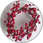 Ветка с красными ягодами гибкая
