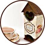 Чайный домик в шоколаде, мастер-класс по декору
