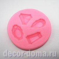 Молд силиконовый, Драгоценные камни, 6,5 см