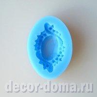 Молд силиконовый, Драгоценный камень в оправе, 6 х 4 см