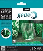 Фольга зеркальная Pebeo Gedeo Mirror Effect Leaves, зеленая