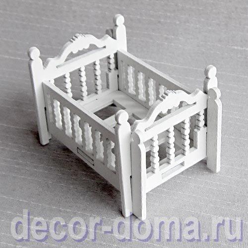 кукольная кроватка деревянная детская купить с доставкой