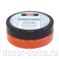Восковая патина Viva Decor Patina WaxX, цвет 401 коралловый, 50 мл