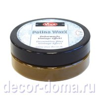 Восковая патина Viva Decor Patina WaxX, цвет 450 коричневый, 50 мл