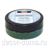 Восковая патина Viva Decor Patina WaxX, цвет 700 зеленый, 50 мл