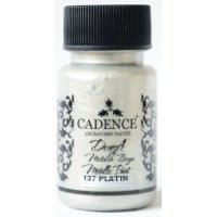 Dora Metallic Paint, Cadence, краска-металлик, 50 мл, цвет 137 платина