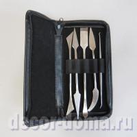 Набор скульптурных ножей, 5 шт., в футляре