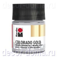 Краска Marabu Colorado Gold, 50 мл, цвет 796 платина металлик